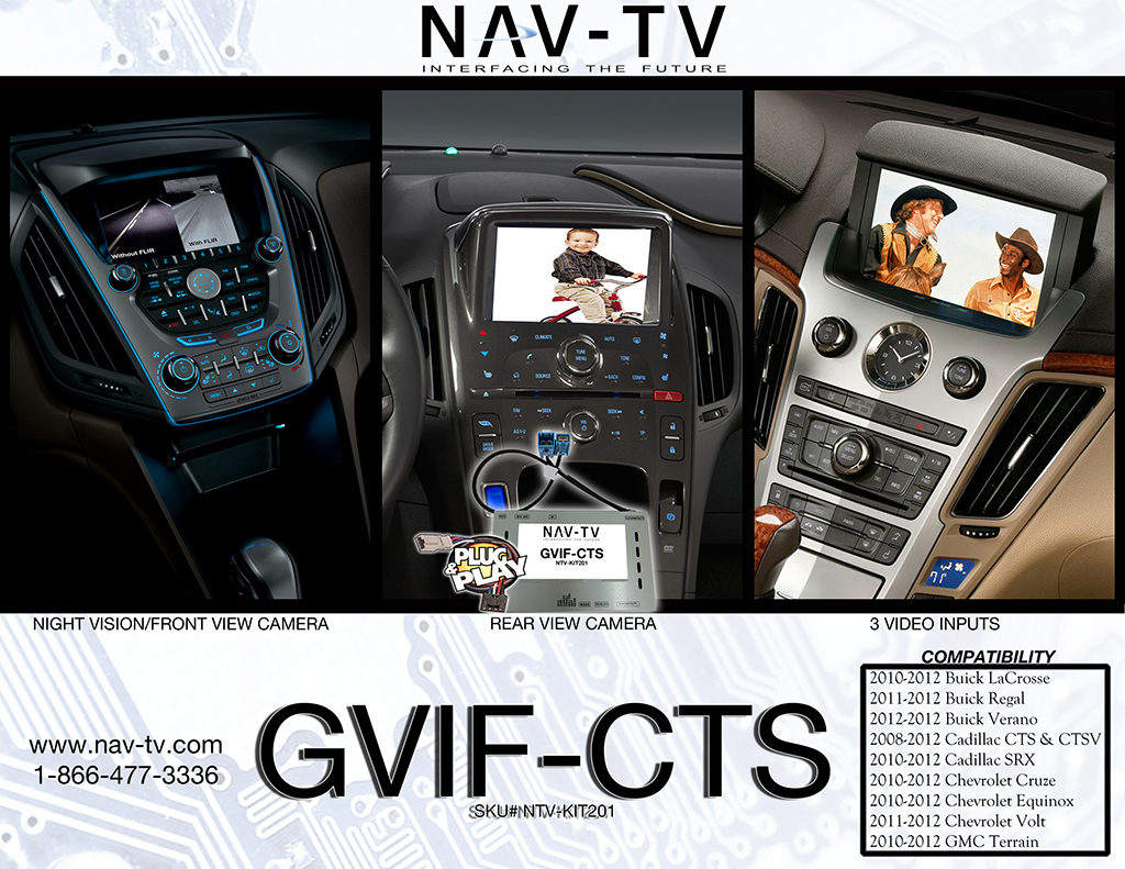 Video Interface Gvif Cts Nav Tv 2005 Cadillac Srx I Need The Wiring Diagramcenter Consoleharness Crop Sell Sheet
