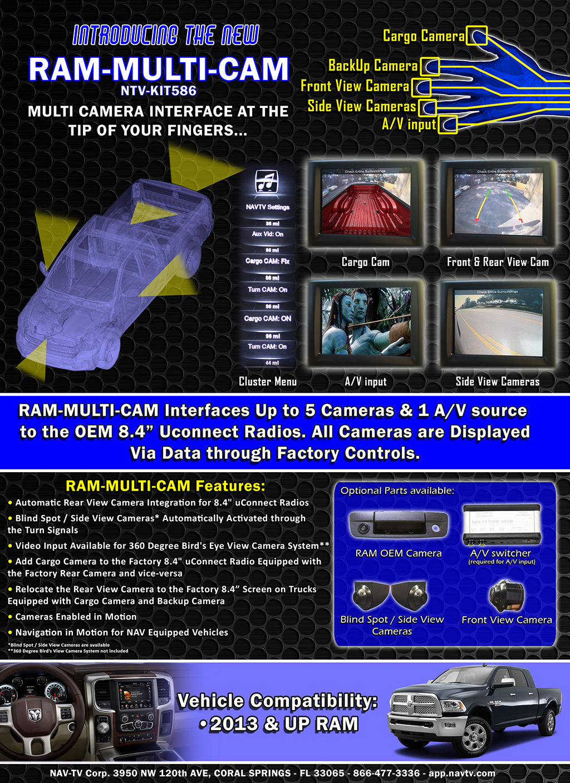 Video Interface Ram Multi Cam Obsolete Nav Tv Backup Camera Wiring 2012 Dodge 2500 Kit Crop 1 8 X 11