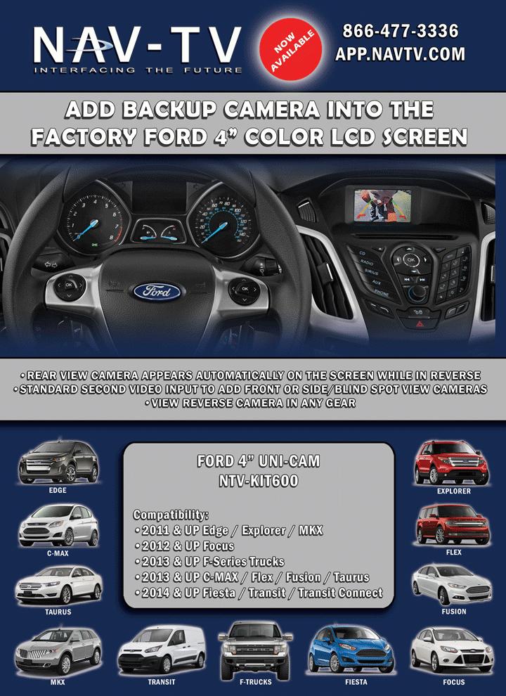 """Aftermarket Backup Camera >> Back-up Camera Interface - Ford 4"""" UNI-CAM (obsolete) - NAV-TV"""