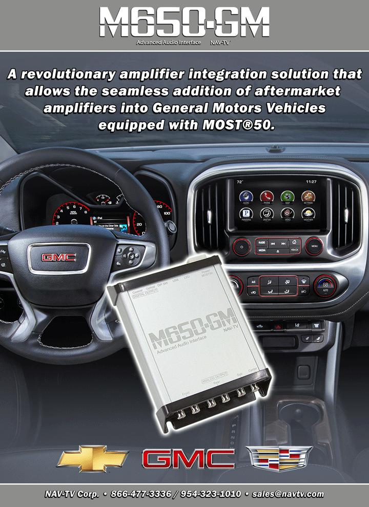 audio interface m650 gm nav tv